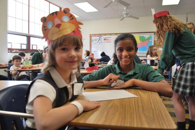 1st-grade-visit-day-Tara-Ellison-with-1st-grader-in-Literatuere